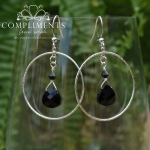 black onyx earring bridesmaid set