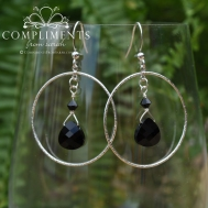 black onyx bridesmaid earring set