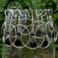 black onyx earrings bridesmaid set