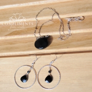 black onyx briolette set