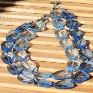 blue on blue beauty necklace