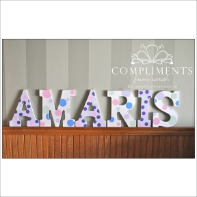 hand painted letters amaris