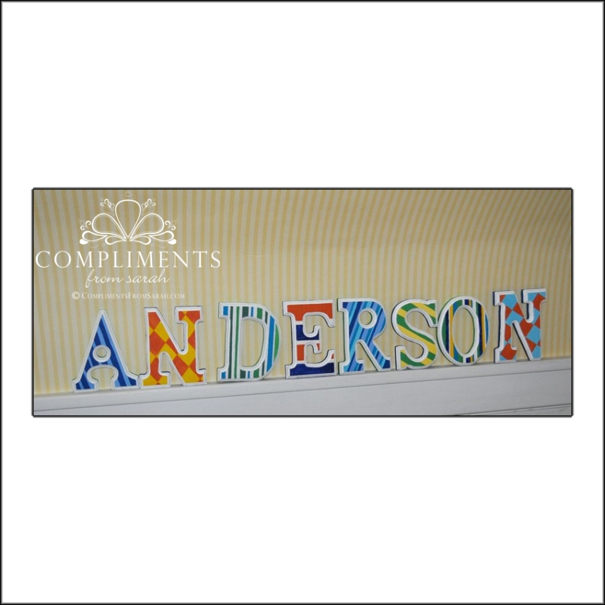 hand painted letters anderson