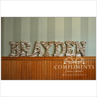 hand painted letters brayden