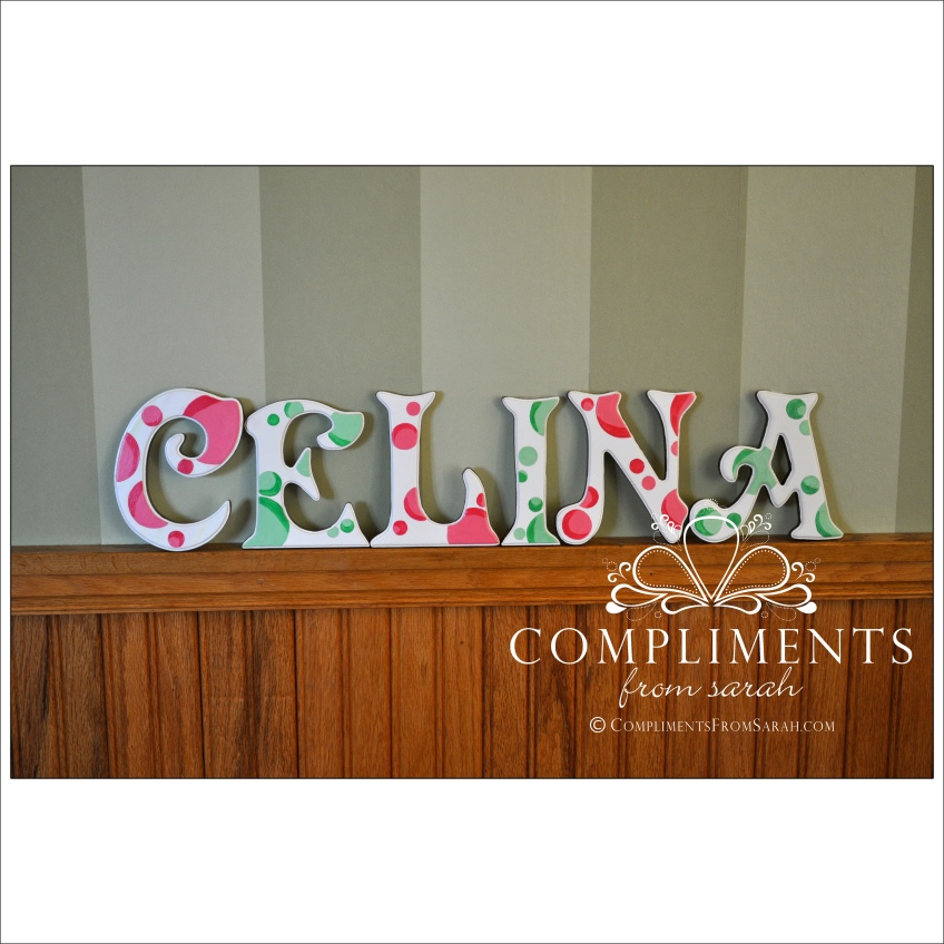 hand painted letters celina