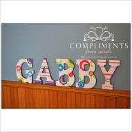 hand painted letters gabby