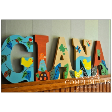 hand painted letters giana