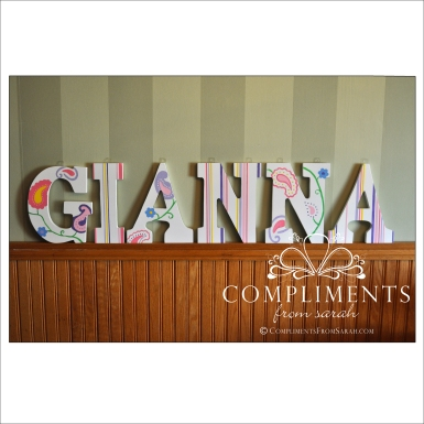hand painted letters gianna