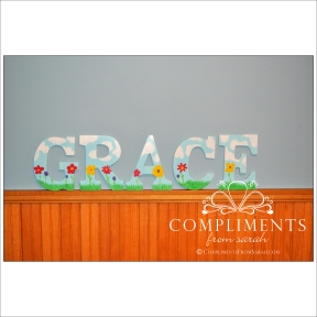 hand painted letters grace