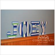 hand painted letters joey
