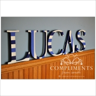 hand painted letters lucas