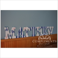 hand painted letters matthew