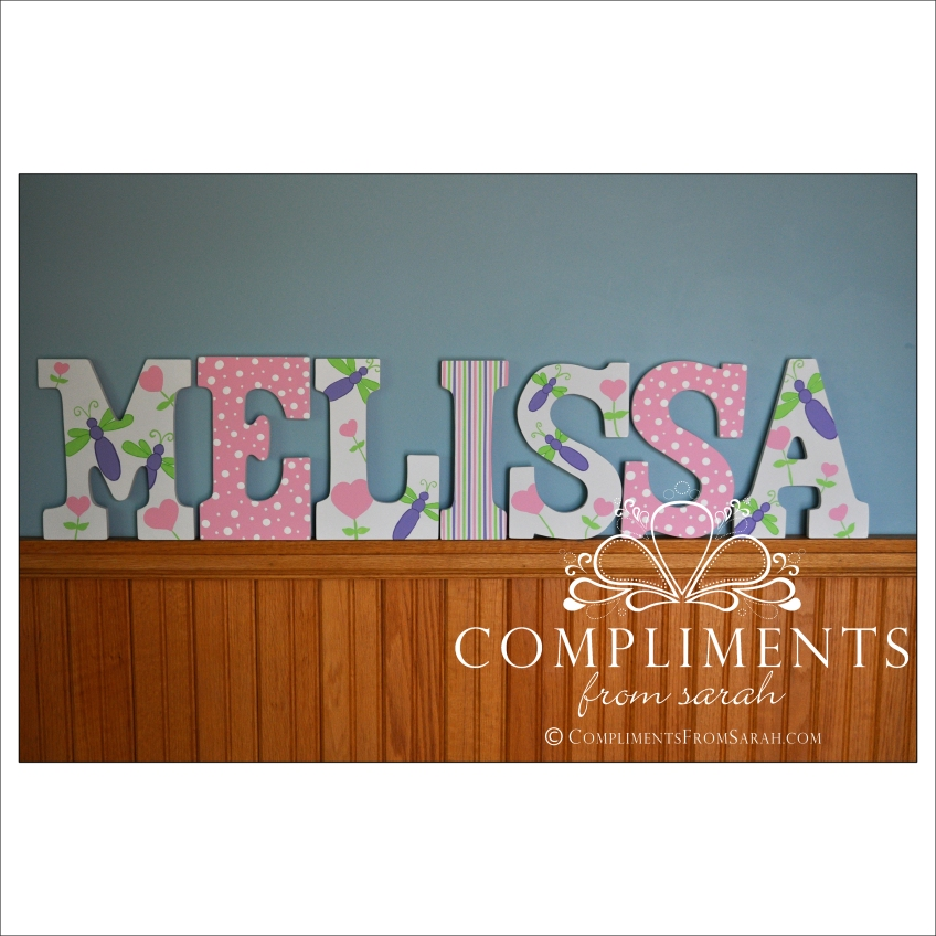 hand painted letters melissa