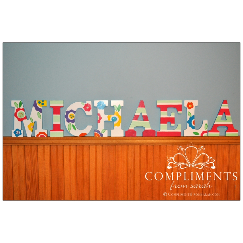hand painted letters michaela