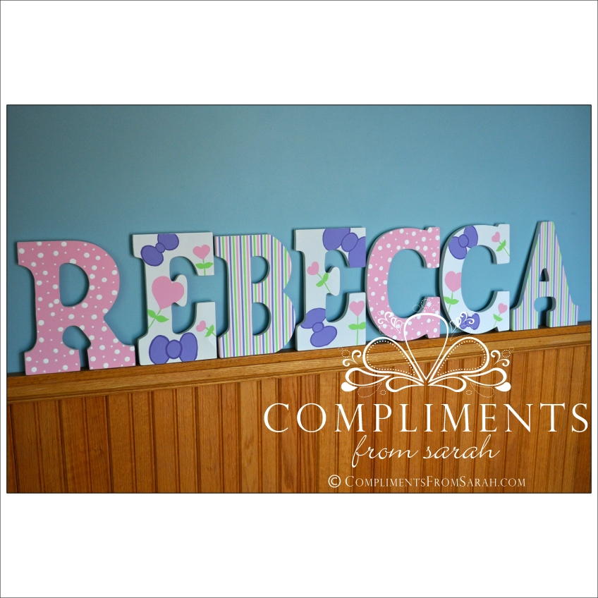 hand painted letters rebecca