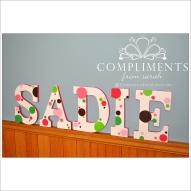 hand painted letters sadie