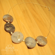 lavender and silver necklace