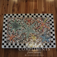 mosaic star side table top