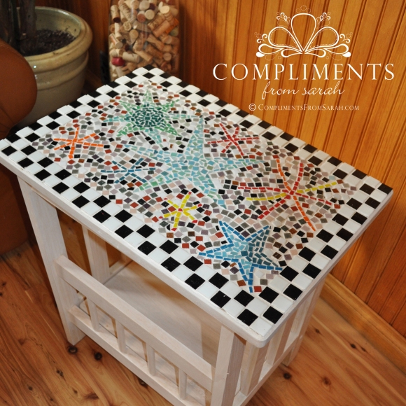 mosaic star side table