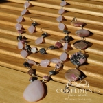 pink stone necklace and bracelet set