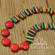 venitian striped stone necklace