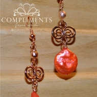 rose gold filigree drops