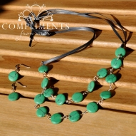 sea green circle stone set