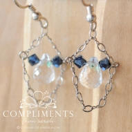 navy crystal drops