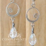swarovski crystal swirl drop earrings