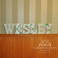 hand painted letters wesley