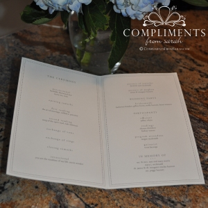 wedding programs inside