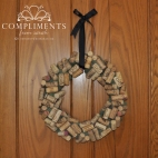 mossy wine cork wreath