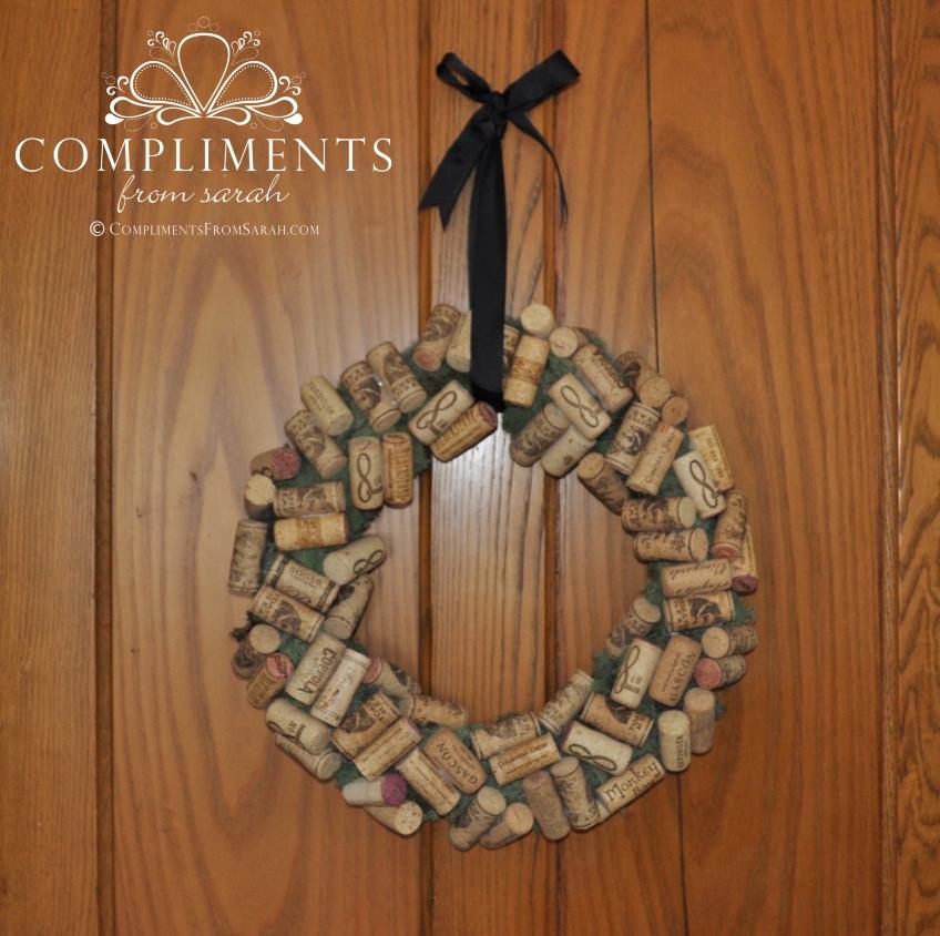 mossy wine cork wreath