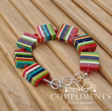 venetian stripe bracelet