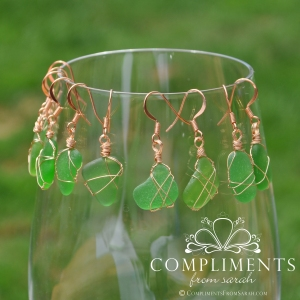 Green Sea Glass Jewelry
