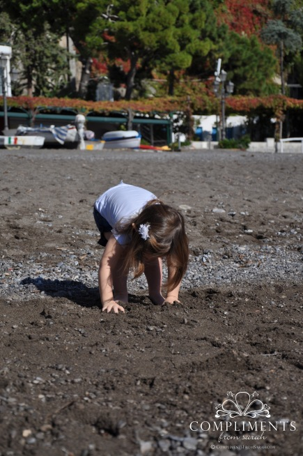Maddie Digging for Sea Glass
