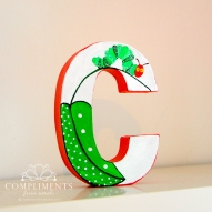 Caroline Hand Painted Letters The Very Hungry Caterpillar - C