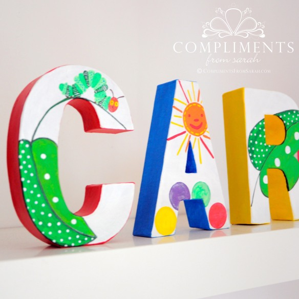 Caroline Hand Painted Letters The Very Hungry Caterpillar - Zoom 1