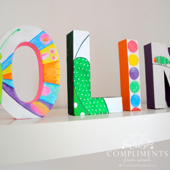 Caroline Hand Painted Letters The Very Hungry Caterpillar - Zoom 2