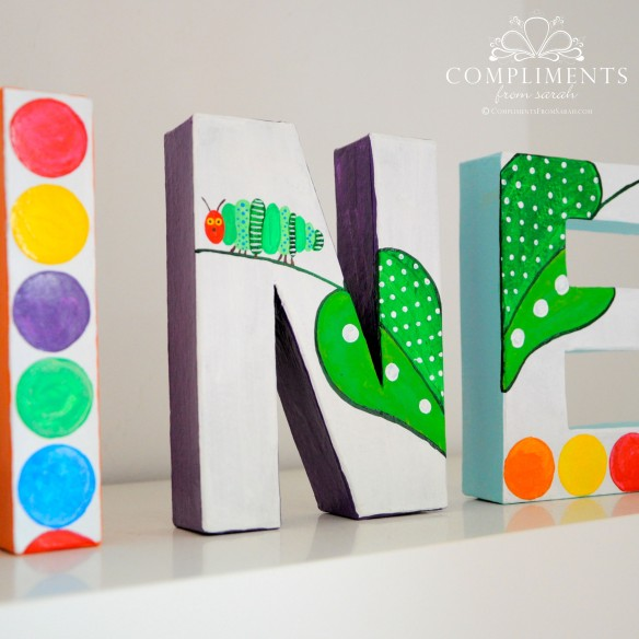 Caroline Hand Painted Letters The Very Hungry Caterpillar - Zoom 3