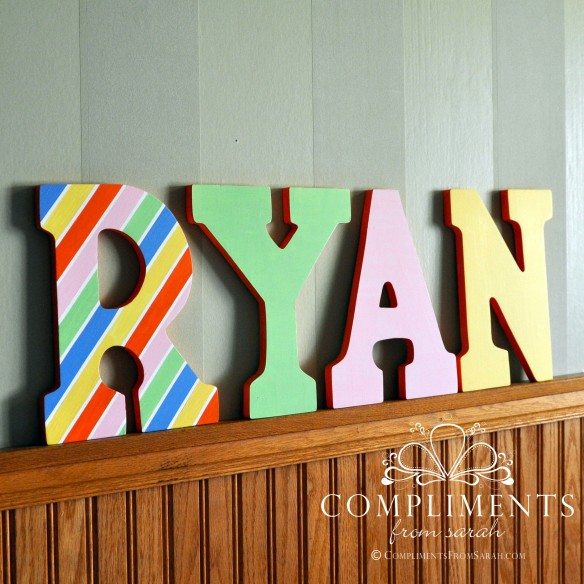 Ryan Hand Painted Letters