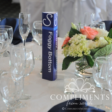 DC Metro Theme Wedding Table Identification